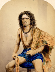 [Portrait of] A Sumuyasi [sanyasi] with leopard skin.